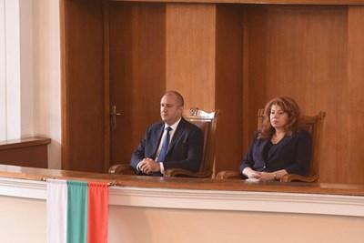 Румен Радев и Илияна Йотова. Снимка Архив