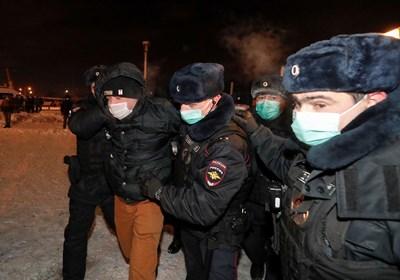 """Снощи Навални е бил отведен в центъра за задържане """"Матросская тишина"""".  СНИМКА: Ройтерс"""