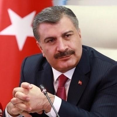 Турският министър на здравеопазването Фахреттин Коджа СНИМКА: Ройтерс