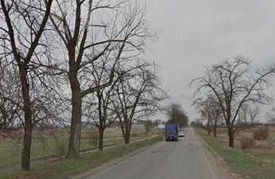 Пътя Сливница - Драгоман в района на Божурище Снимки: Google street view