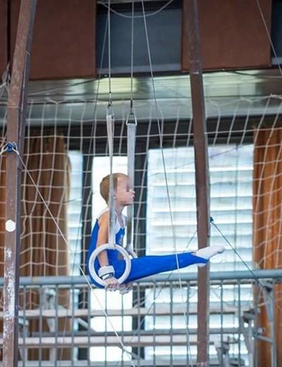 Загиналият Даниил Вълчев СНИМКА: Фейсбук/Профил на клуба по спортна гимнастика, в който е тренирал Дани