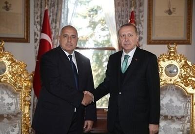 Премиерът Бойко Борисов и турският президент Реджеп Ердоган СНИМКА: Ройтерс