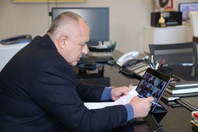 Министър-председателят Бойко Борисов и членовете на Министерския съвет проведоха чрез видеоконферентна връзка  редовното правителствено заседание.