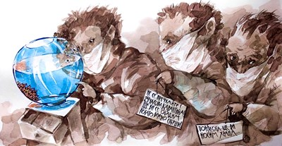 Вижте как Анри Кулев нарисува COVID офертата за пенсионери