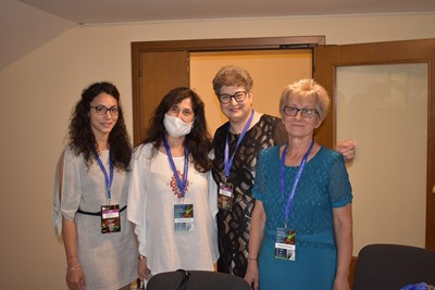 Стефка Василева - рентгенов лаборант, Петранка Гагова - председател на БАЛОДТ, старши рентгенов лаборант Мима Митева и Татяна Илясова - рентгенов лаборант (от ляво на дясно) по време на форума