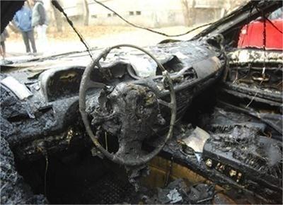 Лек автомобил е изгорял при пожар  на пътя. СНИМКА: Архив