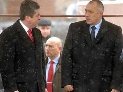 Премиерът Бойко Борисов заяви, че ГЕРБ няма да се съобрази с наложеното от президента Георги Първанов вето на пенсионните промени и законите ще бъдат прегласувани от парламента.  СНИМКА: ПАРСЕХ ШУБАРАЛЯН