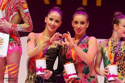 Невяна Владинова и Катрин Тасева по време на награждаването от финалите с лента. СНИМКИ: Фейсбук