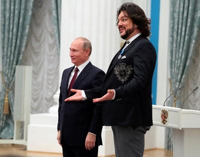Филип Киркоров е близък с президента Владимир Путин.