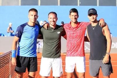 Григор е прегърнал тенисист №1 в света Новак Джокович в Хърватия.