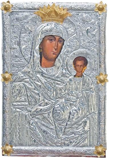 """Иконата на св. Богородица """"Златната ябълка"""" в църквата """"Св. Богородица - Успение"""" в Горни Воден"""
