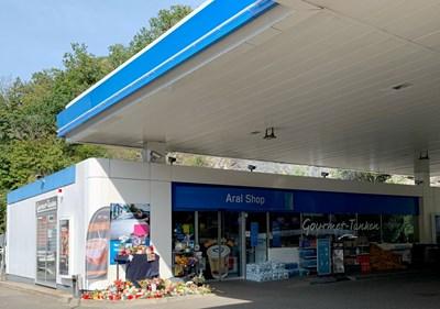 Фаталната бензиностанция снимка Ройтерс