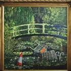 """Картината на британския уличен художник Банкси """"Покажи ми Моне"""" бе продадена на търг в Лондон за 9,8 милиона долара КАДЪР: Youtube/The Indipendent"""