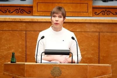 Президентът на Естония Керсти Калюлайд СНИМКА: РОЙТЕРС