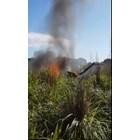 Самолетът гори Кадър: Туитър