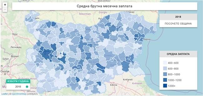Най-високата средна заплата у нас е в Челопеч