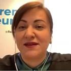Атидже Алиева - Вели. Стопкадър от онлайн брифинг относно реформата на ОСП,  организиран от Бюрото на Европейския парламент в България