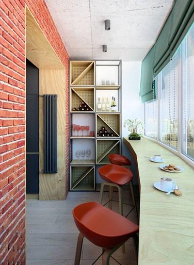 Комбинацията от стилове и цветове прави жилището много интересно Снимки design-homes.ru