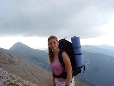 Преди да започне с бяганията, русенката е активна планинарка. Снимки: Личен архив