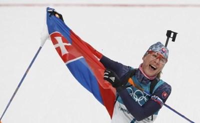 Анастасия Кузмина спечели третия си медал от игрите в ПьонгЧанг СНИМКА: Ройтерс