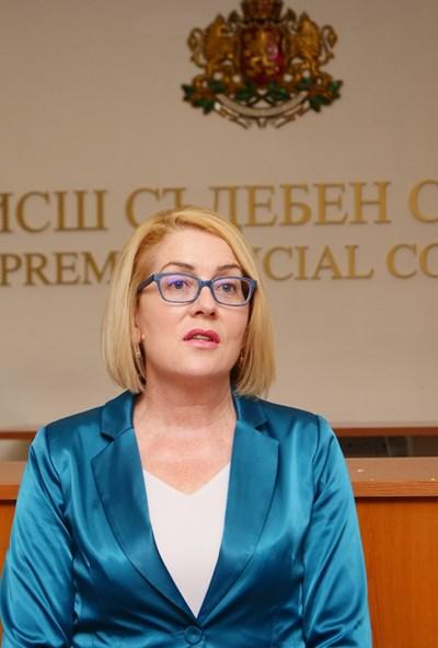 Даниела Машева - говорител на прокурорската колегия на ВСС