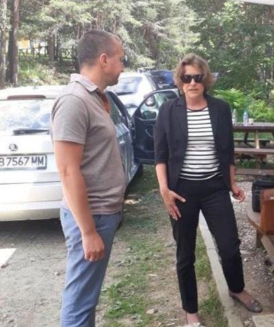 Кметът на Белица Радослав Ревански и зам.-министър Емилия Тончева.