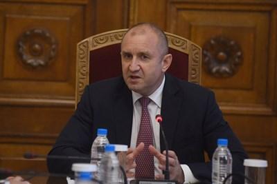 Президентът Румен Радев СНИМКА: Велислав Николов