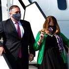 Помпейо пристига на Словения с жена си Сюзан. Снимка Ройтерс