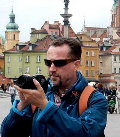 Иво Христов с камера в Полша СНИМКА: Личен архив