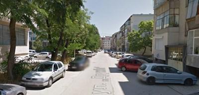 """Инцидентът е станал на ул. """"Дружба"""" в морската столица  СНИМКА: Гугъл стрийт вю"""