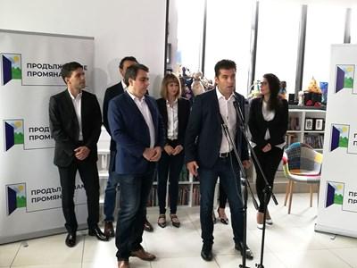 Асен Василев и Кирил Петков представят партията си Снимка: Велислав Николов