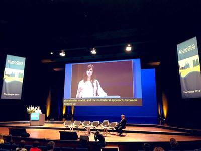 Мария Габриел откри 12-ото издание на най-авторитетния форум в Европа, посветен на управлението на Интернет EuroDig. Снимка представителство на ЕК в България