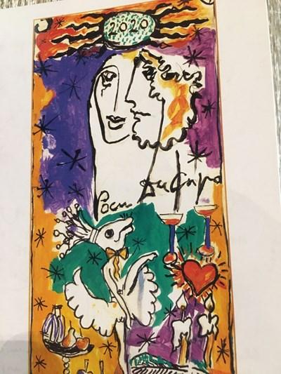 Картината, рисувана през 2008 г. от Димитър Киров, стана картичка на 2020-а.