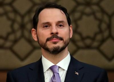 Новият турски финансов министър Берат Албайрак СНИМКА: Ройтерс