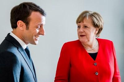 Еманюел Макрон и Ангела Меркел СНИМКА: Ройтерс