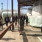 """Министърът на енергетиката Теменужка Петкова инспектира оборудването за ядрения остров, което е на площадката на """"Белене""""."""