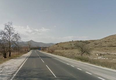 Пътят Струмяни - Сандански СНИМКА: Google Street View