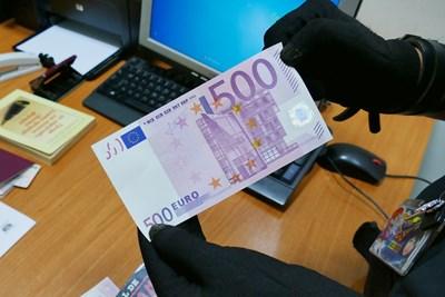 Намерените фалшиви пари СНИМКА: МВР