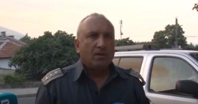 Kомисар Владимир Демирев, шеф на пожарната в Сливен КАДЪР: BGONAIR