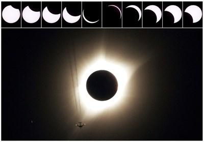 Милиони наблюдаваха първото пълно слънчево затъмнение в САЩ от 99 г. СНИМКИ: РОЙТЕРС