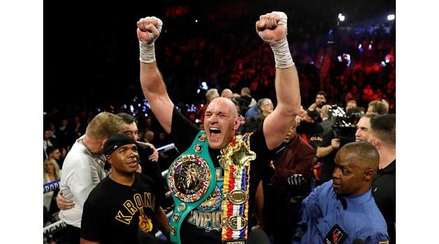 Тайсън Фюри разкости Дионтей Уайлдър и стана шампион в свръхтежка категория на Световния боксов съвет (WBC)