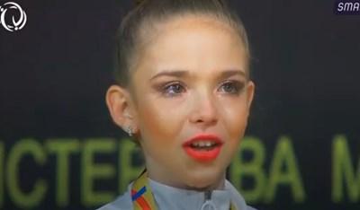 Стиляна Николова на почетната стълбичка. Снимка БФХГ
