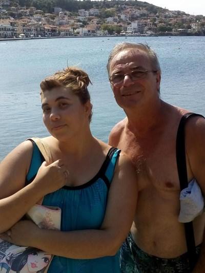Митко и Юлияна от времето, когато са били щастливи. СНИМКА: Фейсбук