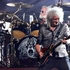 """Китаристът по време на турнето """"Бохемска рапсодия"""" в Калифорния през юли миналата година"""
