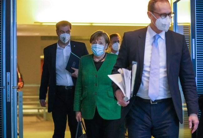 Срещата между канцлерката Ангела Меркел и премиерите на 16-те провинции, на която бе обсъдено удължаване на въведения заради коронавирусната епидемия локдаун