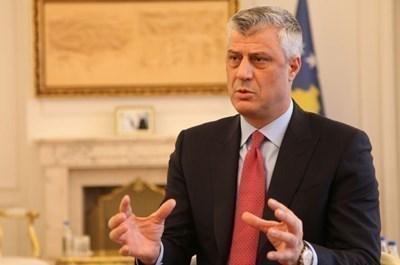 Президентът на Косово Хашим Тачи  СНИМКА: Ройтерс