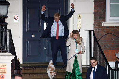 Борис Джонсън с приятелката си Кари Саймъндс Снимка: Ройтерс