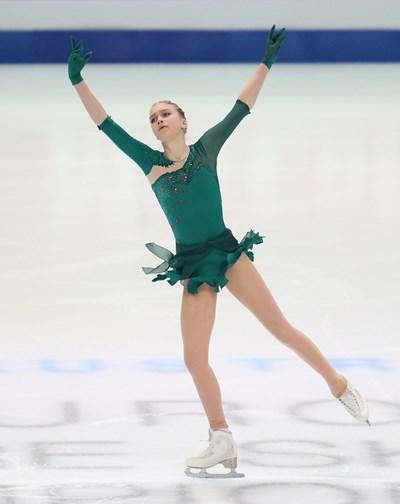 Александра Фейгин е финалистка на европейското по фигурно пързаляне в Грац. Снимка: Ройтерс