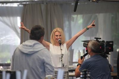 Лилия Маравиля играе певица в новия си филм. СНИМКА: СТОЯН ГРЕБЕНАРОВ