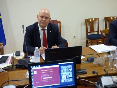 Иван Гешев на заседанието на ВСС